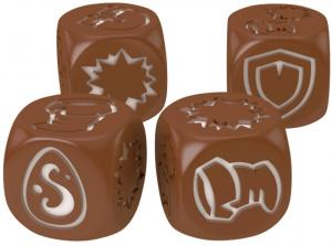 Кубики для Кросмастера: матовые коричневые (4 штуки)