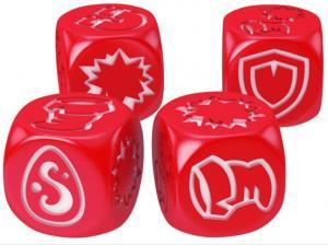 Кубики для Кросмастера: матовые красные (4 штуки)
