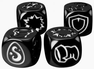 Кубики для Кросмастера: матовые черные (4 штуки)