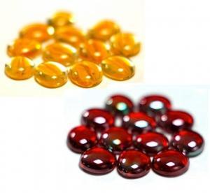 Жёлтые и красные стеклянные каунтеры (48 шт.)