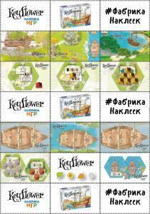 Наклейки с изображениями игры Keyflower